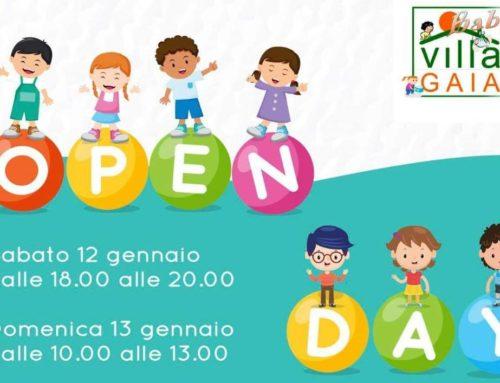 OPEN DAY Villa Gaia Baby: sabato 12 e domenica 13 gennaio 2019