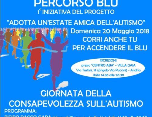 """""""ADOTTA UN'ESTATE AMICA DELL'AUTISMO"""", Domenica 20 Maggio – Maratonina di beneficenza"""