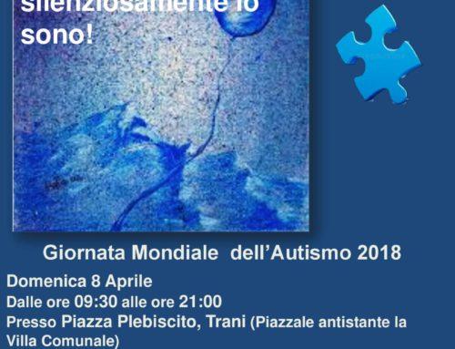 Giornata Mondiale per la Consapevolezza dell'Autismo: Domenica 8 aprile, P.zza Plebiscito – TRANI
